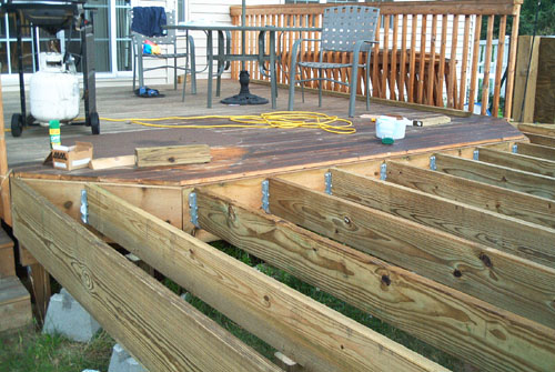 barrys pool deck deck project